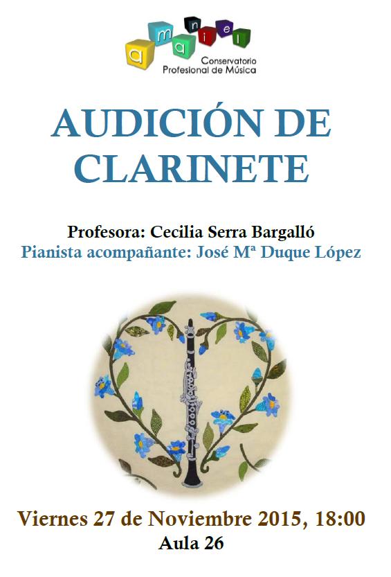 PRIMERA AUDICIÓN DE CLARINETE EN EL CONSERVATORIO DE AMANIEL
