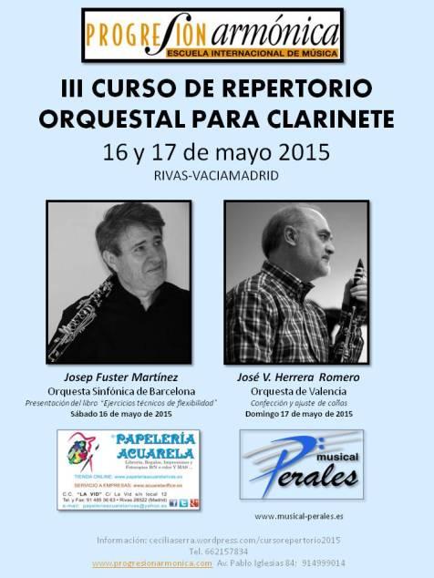 CARTEL III CURSO REPERTORIO ORQUESTAL 2015